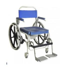 Cadeira de Banho e Sanitária Atlantic (Com 2 rodas grandes e 2 rodízios)