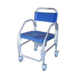Cadeira de alumínio de banho e sanitária Pacific (Com 4 rodízios)