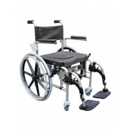 Cadeira de inox Arctic (Com 2 rodas grandes e 2 rodízios)
