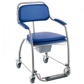 Cadeira Sanitária Omega com rodízios Azul