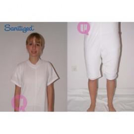 Pijama manga curta e calção para acamados
