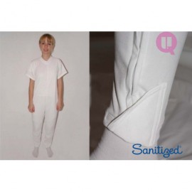 Pijama manga curta para acamados