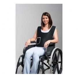 Colete de fixação a cadeira de rodas