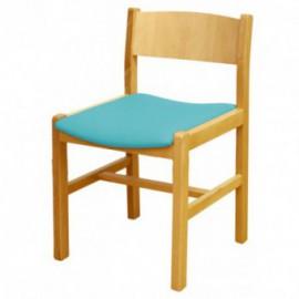 Cadeira simples sem braços enc. em madeira