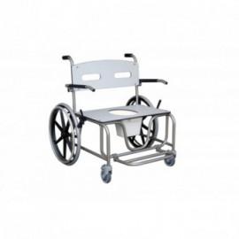 Cadeira sanitária de inox Antarctic XXL roda grande