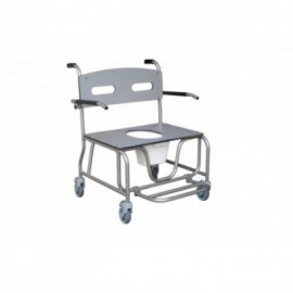 Cadeira sanitária de inox Antarctic XXL 4 rodízios